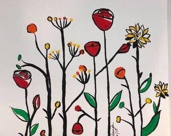 Acrylic Painting Flowers