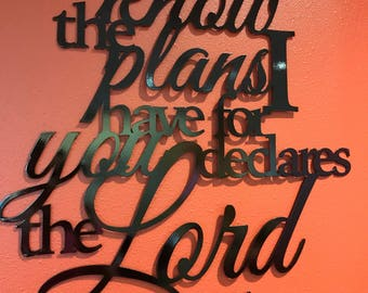 Jeremiah 29:11 Metal Home Decor