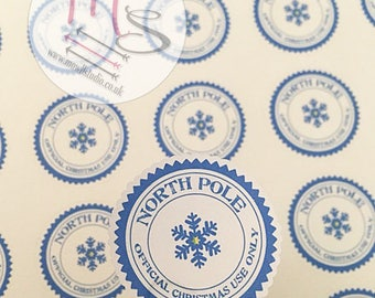 40 North Pole Stickers, small business, Perfect for parcels, packages, cards, Small Business, Order, Labels, Christmas, North Pole, NiceList