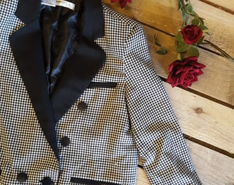 Vintage Dogtooth Suit Jacket