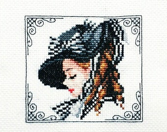 Graceful Lady - Completed cross stitch