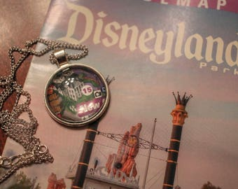 Disney Map Necklace - Haunted Mansion map