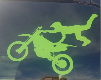 Dirt bike silhouette decal