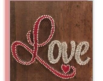 Love <3 String Art, wall decor