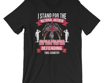 Stand for the Flag Kneel for the Cross UNISEX T-Shirt Veteran Gift