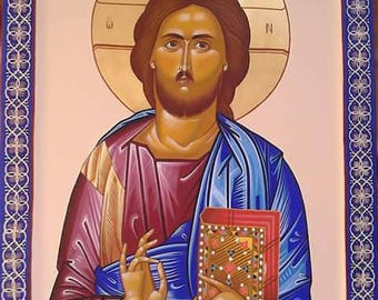 Jesus Christ Byzantine - Orthodox Icon Unique