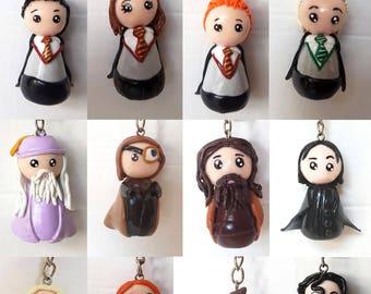 Harry Potter polymer clay keychain