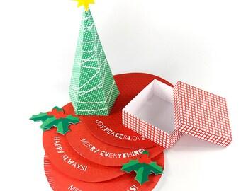 christmas eve box - digital - christmas eve - colorful