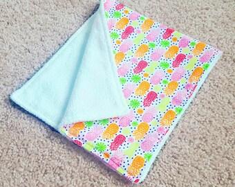 Pineapple Burp Cloth | Baby Shower Gift | Baby Girl Shower | Baby Gift | Baby Girl Gift | Drool Cloth | Drool Bib | Burp Cloths | Baby Girl
