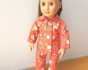 Doll Pajamas 18 inch fit American girl, journey girl, our generation Doll