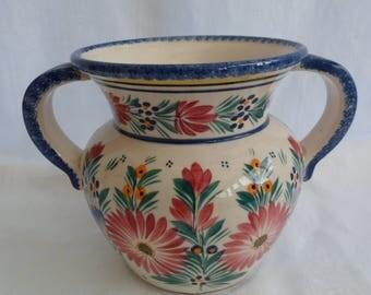 french QUIMPER HENRIOT Vase.