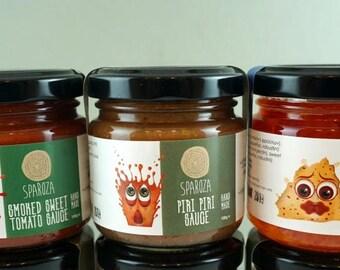 Homemade Gourmet Sauce Set, Homemade Pasta Sauce, Pepper Jelly Sampler, Gourmet Gift, BBQ Sauce Sample Set, Gourmet Food, Gift For Friend