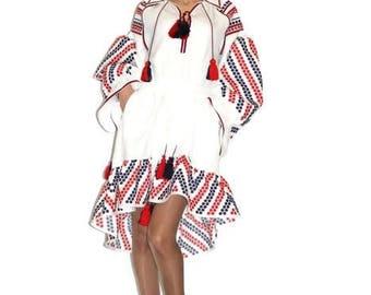 Vyshyvanka Ukrainian dress Embroidered Dresses Boho Ukraine Embroidery Vishivanka Ethnic Vishivanka Modern Style Bohemian Fashion Tunic