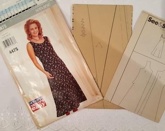 Simplicity 4475 Semi Fitted Aline Sleeveless Dress Size 18-20-22 1996  UNCUT Vintage Sewing Pattern ~ GRTODPAT