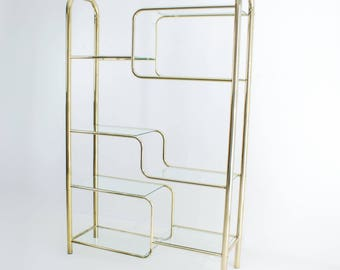 Sold Out! Shelving Hollywood Regency Mid Century Modern Etagere Sideboard Wall unit Bookcase Bar Vintage Retro Sold Out!