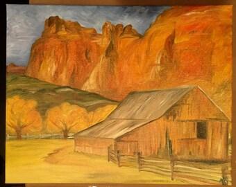 Colorado Farm // Oil Painting