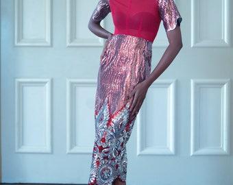 Shiloh' Midi Sequins Dress