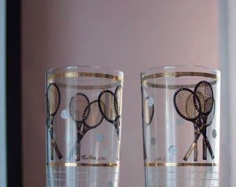 Vintage Culver Ltd Highball Tennis Glasses