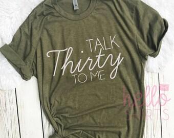 dirty Thirty, Thirty AF Squad, 30th Birthday Shirt, 30th Birthday Party, Thirty Shirt, Birthday Shirt, 30th Birthday, thirty and thriving
