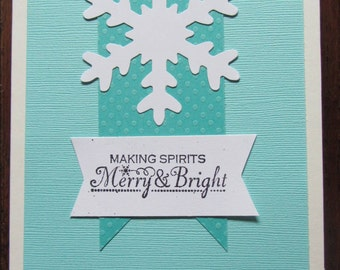 Snowflake Christmas Cards 2|Pack of 25|Blank Inside|Handmade|Holiday Cards