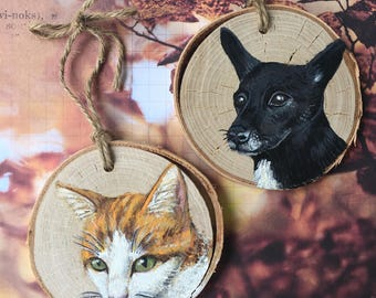 Personalized, Hand Painted, Pet Ornament
