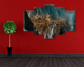 LoTR print, Rivendell, Rivendell canvas, Lord of the ring, Lord of the ring canvas, Rivendell wall art, Rivendell print, LoTR, LoTR canvas