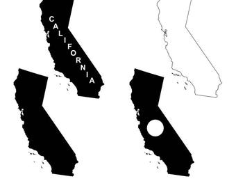 California map SVG files for Silhouette Cameo and Cricut. California clipart PNG included. California monogram svg, California cutting files