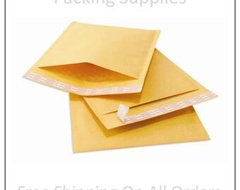 50 #000 4x8 Kraft Bubble Mailers Padded Envelopes 4 x 8