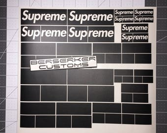 SUPREME stencils for customizing shoes