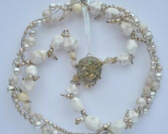 Orgonited Sun Catcher, Circular Pearls