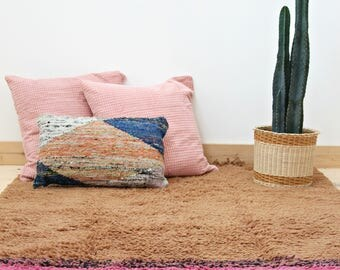Boho Pink - Rug Hand Knotted Wool