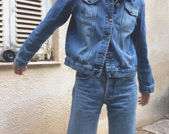 Vintage nicely faded oldschool denim jacket