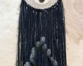 "Black &  metallic 10""  Dreamcatcher"