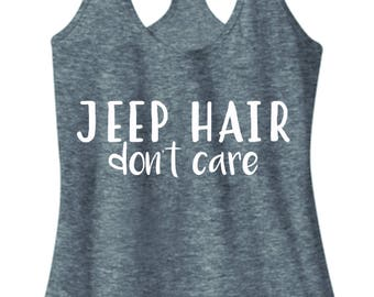 Jeep Hair Don't Care - Women's Racerback Tank Top