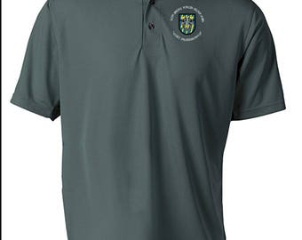 12th Special Forces Group Embroidered Moisture Wick Polo Shirt -3762