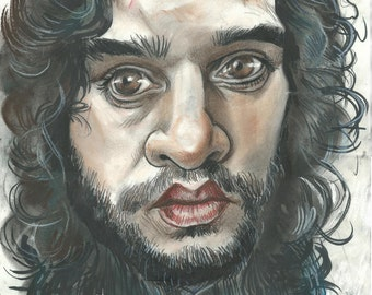 Jon Snow and his lack of Knowledge A3 print 600 pixels per inch resolution. Signed by the artist.