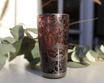 Vintage Purple Glass Tumbler