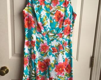 Summer Floral A-Line Dress