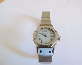 Cartier Santos Octagon steel women watch