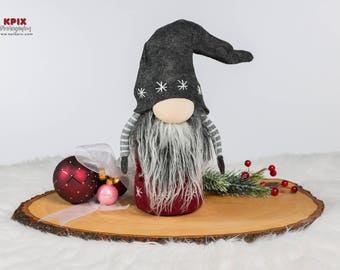 Nordic Gnome - Scandinavian Tomte - Nisse Holiday Decoration - Wool Felt - Christmas Gnome
