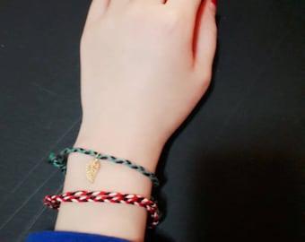braided bracelet, simple bracelet, friendship bracelet, thread bracelet, cute bracelet, pendant bracelet, casual bracelet, wish bracelet