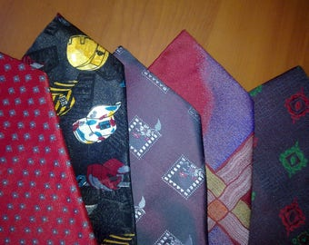 Soviet Times Vintage Neckties 5 Pieces Kit Authentic Made in USSA