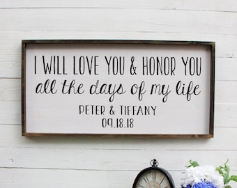 Rustic Bridal Shower Decorations, Above Bed Decor, Rustic Wall Decor, Master Bedroom Wall Decor, Wood Sign With Saying, Personalized Gift