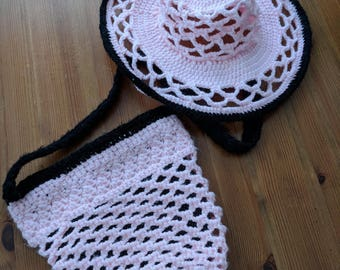 Crochet Hat and Purse
