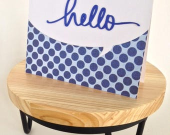 Thinking of You / Hello Greeting Card