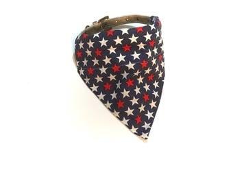 Pawtriotic Stars Dog Collar Bandana