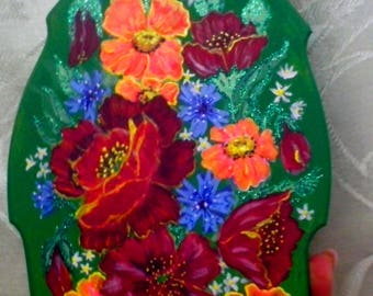 Hand painting of a small cutting board - Artist: Larisa Milyutenko - Great gift for a wedding, birthday or other holiday  #1