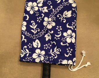 Hawaiian Print Pickleball Paddle Cover - also reversable!