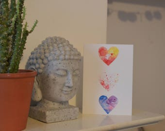 Valentines/Anniversary love heart greetings card