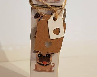 Pug Dog Decorative Peg Clothespin Memo Note Photo Holder Magnetic